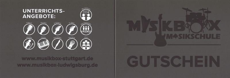 Musikbox Musikschule Gutschein